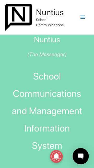 Nuntius-mobile-homepage