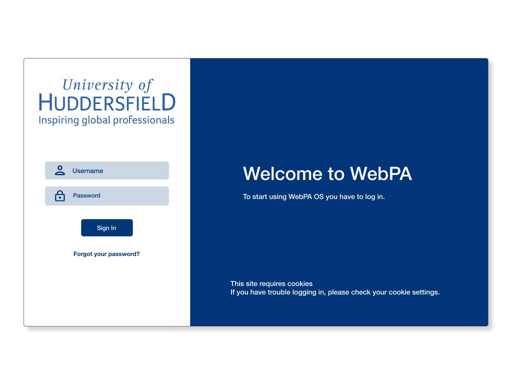 WebPA Home Screen